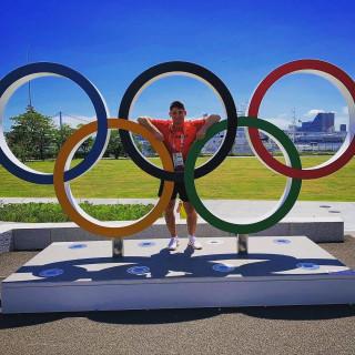 Eduard Trippel bei den Olympischen Spielen in Tokio